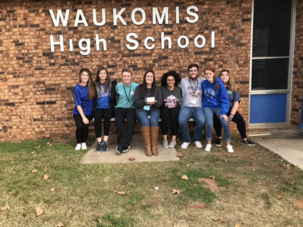Gold Chapter for Waukomis Student Council