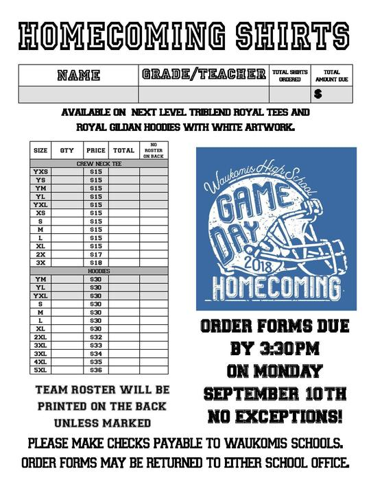 2018 FB HOCO Order form