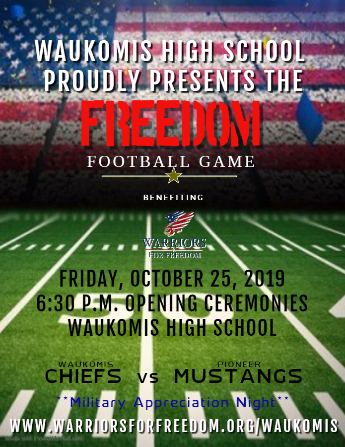 Warriors For Freedom Football Game 2019