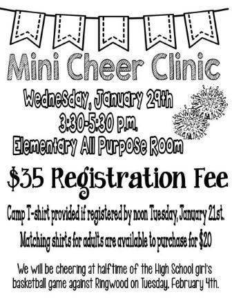 MINI CHEER CLINIC
