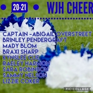WJH Cheer Results