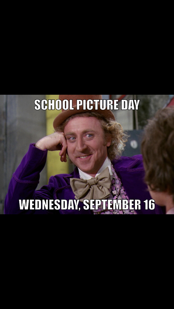 Picture day Wednesday 16th